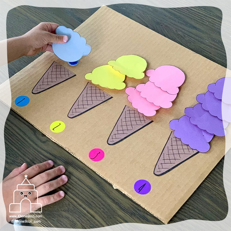 وصل کردن اسکوپ بستنی به تعداد4