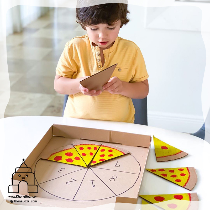 به ترتیب چیدن قاچ های پیتزا3