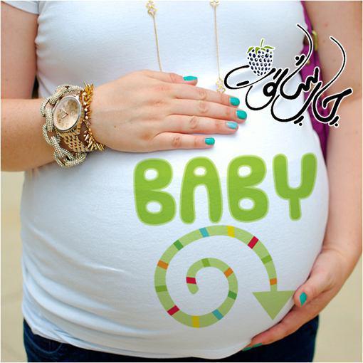 تیشرت بارداری طرح baby